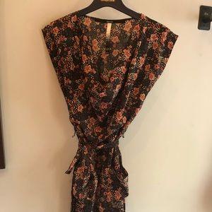 Cherry Blossom Cowl Neck Dress